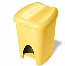 Abfalleimer Mülleimer Treteimer 16Lt gelb trt316