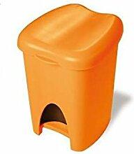 Abfalleimer Mülleimer Treteimer 16Lt Orange trt337