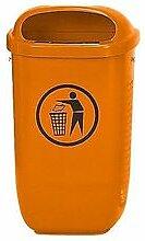 Abfallkorb nach DIN 30713, Orange, Standard