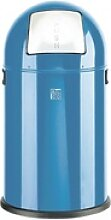 Abfallsammler 20 Liter mit Push-Klappe blau, Alco,