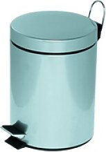 Abfallsammler 5 Liter mit Trittmechanik silber,