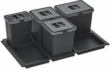 Abfallsammler Metropolis 15+10+10+6L mit Deckel