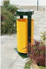 Abfallsammler mit Ascher   Volumen 75 Liter