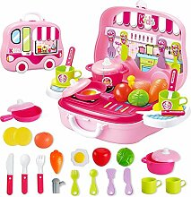 ABGTTI Kinder Simulation Küche Tragbarer Koffer
