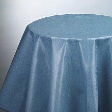 Abitex Exclusive oval Tischdecke, Blau, 140 x 200 x 0.3 cm