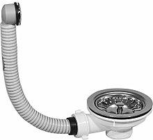 Ablauf Ablaufgarnitur Waschbecken Ventil Ablaufventil Überlaufschutz Abfluss 2. runde Überlauföffnung