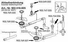 Ablaufgarnitur für Franke PMX 654 E Spüle mit
