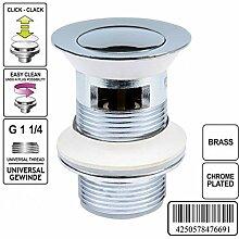 Ablaufgarnitur Pop up Funktion Ablaufventil Abfluss Ablauf Waschbecken Stöpsel