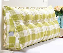 Abnehmbare Dreieck Kissen / Doppelbett Kissen / Bett mit großen Kissen / Bett Rückenlehne ( Farbe : Grün , größe : 7 buckle -200*50*20cm )