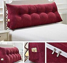 Abnehmbare dreieckige Bett mit großen Kissen Bedside Soft Bag Sofa mit großer Rückenlehne ( Farbe : A3 , größe : 135cm )