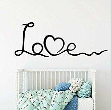 Abnehmbare Liebe Wandkunst Aufkleber Wandaufkleber