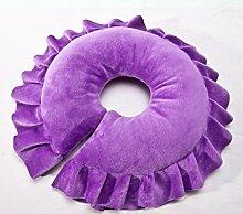 Abnehmbare Massage Massage Beauty Bett liegen Pillow Pillow Pillow Pillow Pillow Pillow Pillow rundes Gesicht ( farbe : Lila )