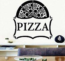Abnehmbare Pizza Vinyl Küche Wandaufkleber Tapete