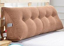 Abnehmbare Triangle Bedside Kissen Bett Rückenlehne Kissen Bedside Soft Case Bett Kissen ( farbe : # 1 , größe : 120cm )