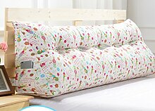 Abnehmbare Triangle Bedside Kissen Bett Rückenlehne Kissen Bedside Soft Case Bett Kissen ( farbe : # 4 , größe : 100cm )
