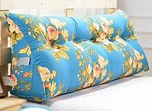 Abnehmbare Triangle Bedside Kissen Bett Rückenlehne Kissen Bedside Soft Case Bett Kissen ( farbe : #8 , größe : 90cm )