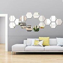 Abnehmbarer Acryl-Spiegel-Aufkleber, Wandaufkleber