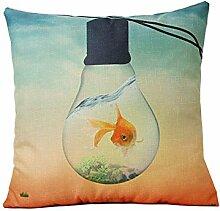 Abnehmbarer Goldfish Travel Kissen Cover Home Dekoration Sofa Überwurf Kissen Günstige Dekoratives Kissen Bezüge #2