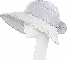 Abnehmbarer Sonnenschutz Hut Leer Top Female Sommer UV-Auto-Fahrt beweglicher im Freien Strand ( Farbe : Grau )