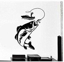 Abnehmbarer Vinyl Wandaufkleber Aufkleber Angeln