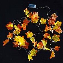 Aboat 2,5 m lange Girlande mit Herbstblättern,