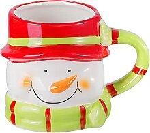 ABOOFAN Weihnachten Keramik Becher Schneemann