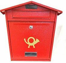 Aboria Stahlblech Briefkasten rot (104341)