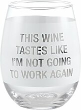 About Face Wein schmeckt ohne Stiel Glas,