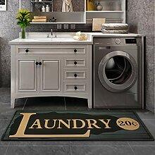 ABREEZE Grauer Teppich für Waschküche,