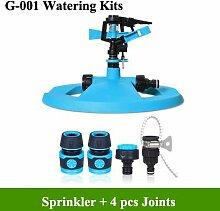 ABS Bewässerung Kits 360Grad automatische drehbar Wasser Sprinkler-System Garten Rasen Bewässerung-Sets mit 4Gelenke 100Kits ^