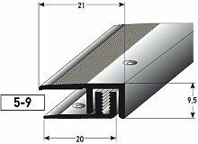 Abschlussprofil Laminat/Parkett, 5-9 x, 21 mm,