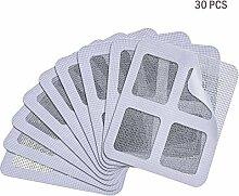 Abseed 30 Stücke Insektenschutz Fliegen Tür Fenster selbstklebend Löcher Repair Patch Kit Mosquito Bildschirm Net (Grau)