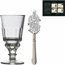 Absinth Glas und Löffel Set | Traditionelles