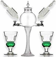 Absinthe Set – Glasperlen-Wassersprudler mit 2