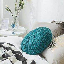 Absir Home Handgefertigtes Strickkissen mit