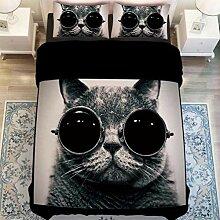 Abskt Heimtextilien Schwarze Katze Mit Brille