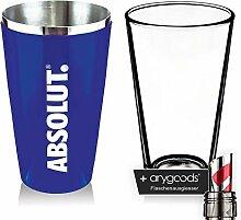 Absolut Vodka Boston Shaker Glas Gläser Mixer