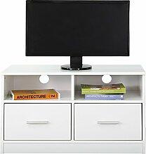 Absolute Deal TV-Standschrank mit 2 Schubladen und Regal, Holz, weiß