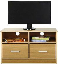 Absolute Deal TV-Standschrank mit 2 Schubladen und Regal, Holz, Buche