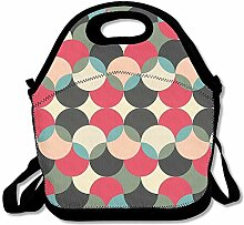 Abstract Design Insulated Lunch Box Tote Bag