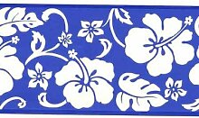 Abstract Floral Moderner Tapete Bordüre weiß auf