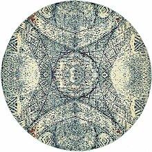Abstrakt Arte Bereich Teppich, blau, 8 x 8 round