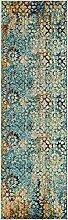 Abstrakt Arte Bereich Teppich, Polypropylen, blau, 2 x 6