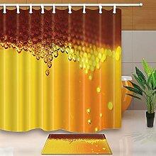 Abstrakt Decor Golden Honeycomb transparent Ball