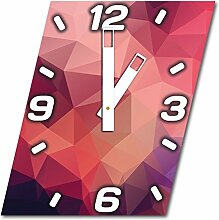 Abstrakt, Design Wanduhr aus Alu Dibond zum Aufhängen, 30 cm Durchmesser, breite Zeiger, schöne und moderne Wand Dekoration, mit qualitativem Quartz Uhrwerk