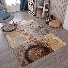 Abstrakt Gefühl Home Teppiche Kunst–memorecool Haustierhaus kein Verblassen anti-slipping modernes Muster Wohnzimmer Tee Tisch Teppiche 88,9x 149,9cm, Retro4, 47x71inch