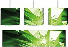 Abstrakt grünes Eis inkl. Lampenfassung E27,