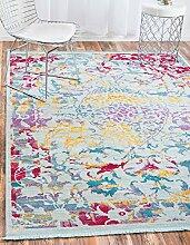 Abstrakt Havanna Bereich Teppich, hellblau, 8 x 10