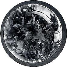 Abstrakt schwarzgrau Kristallglas Kommode