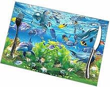 Abstrakte 3D Fisch Aquarium Hintergrund Tablett